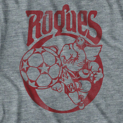 Men's Grey Memphis Rogues Tee Shirt