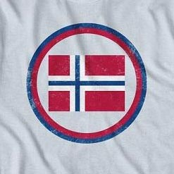 White Retro Norway Crest Tee Shirt