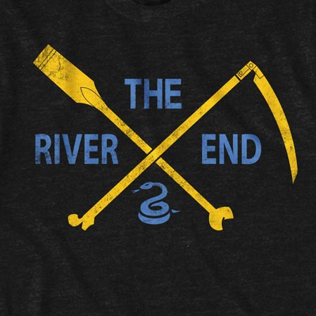 Philadelphia The River End Men's Black Tee Shirt