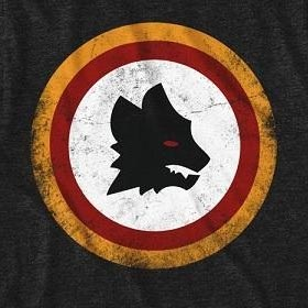 Men's Black Roma Football Club Wolf T-Shirt