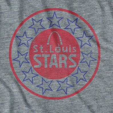 St. Louis Stars Grey Football Club T-Shirt