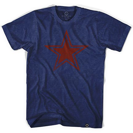 Star Outline Indigo Tee Shirt