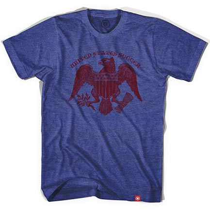 Men's USA Soccer Blue Eagle Tee Shirt