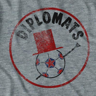 Retro Grey Washington Diplomats T-shirt