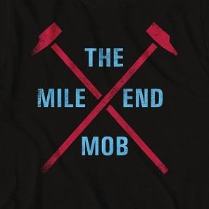 West Ham United Men's Black The Mile End Mob T-Shirt