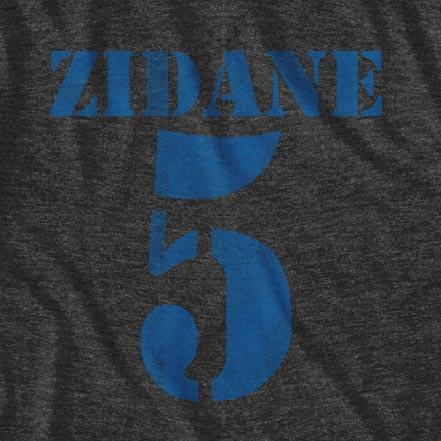 Men's Grey Real Madrid Zidane T-shirt
