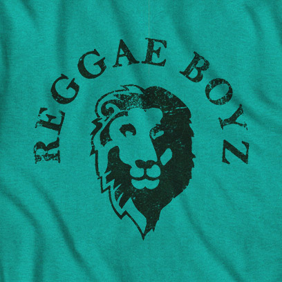 Jamaica Evergreen Reggae Boyz Lion Tee Shirt