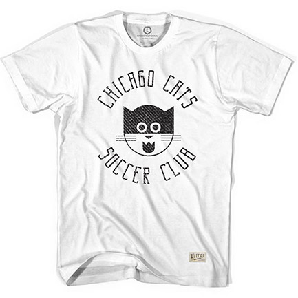Men's White Chicago Cats Tee Shirt