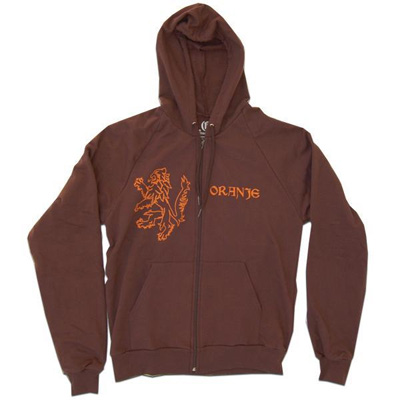 World Cup Soccer Holland Oranje Lion Brown Zip Hoodie