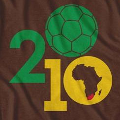 South Africa Soccer Ball World Cup Football Brown TShirt
