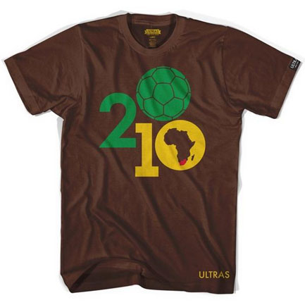 South Africa Soccer Ball World Cup Football Brown Tee Shirt