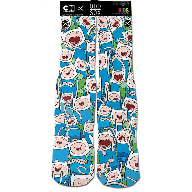 Adventure Time White Finn Kids Socks