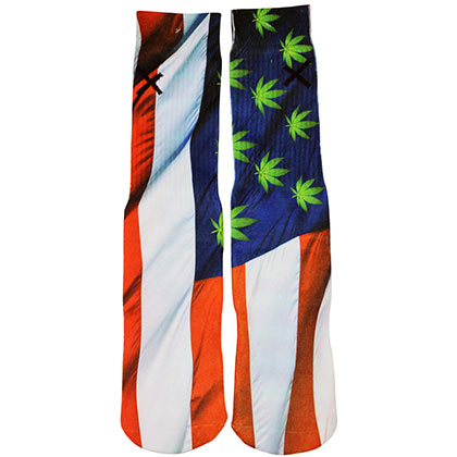 USA Legalize It Men's Crew Socks