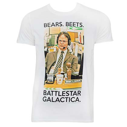 The Office Men's White Battlestar Galactica T-Shirt