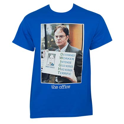 The Office Men's Blue Dwight Meme T-Shirt