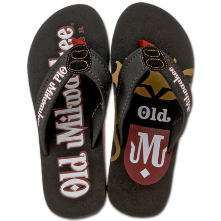Old Milwaukee Beer Mens Sandals