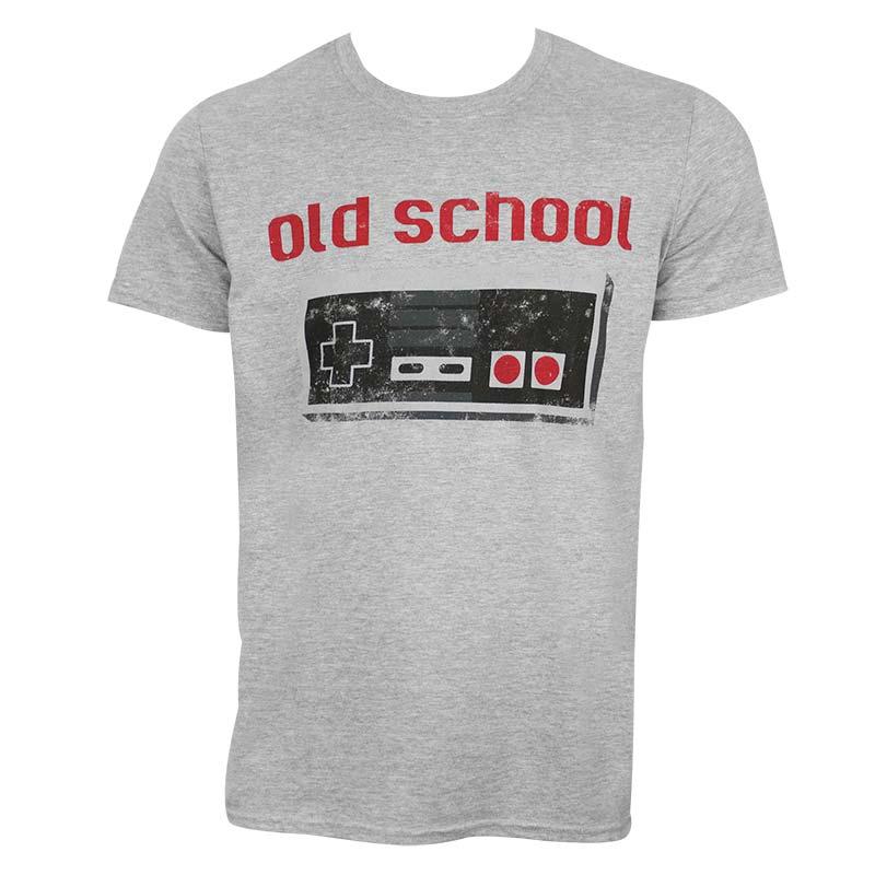 Nintendo Men's Grey Old School T-Shirt