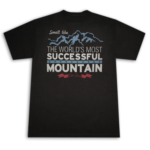 Old Spice Successful Mountain Black Graphic Tee Shirt