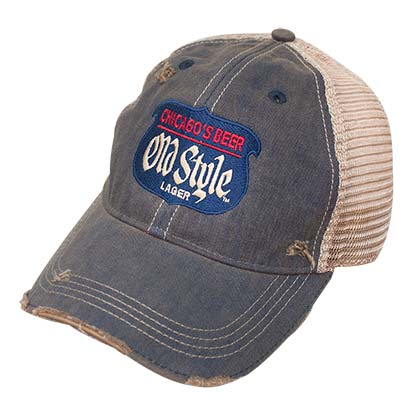 Old Style Retro Brand Distressed Denim Hat