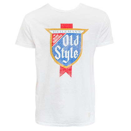 Old Style Retro Brand White Tee Shirt