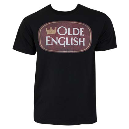 Olde English Crown Logo Men's Black T-Shirt