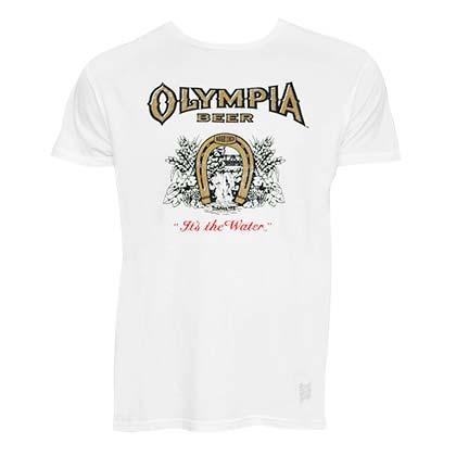 Olympia Men's White Retro Brand T-Shirt