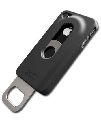opena iphone 4 4s beer slide out bottle opener case black. Black Bedroom Furniture Sets. Home Design Ideas