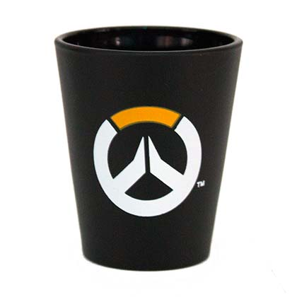 Overwatch Black Logo Shot Glass