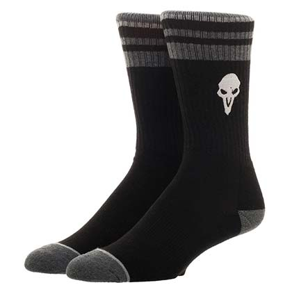 Overwatch Reaper Men's Black Crew Socks