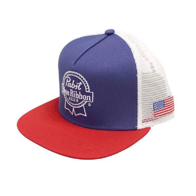 PBR American Flag Blue Snapback Hat