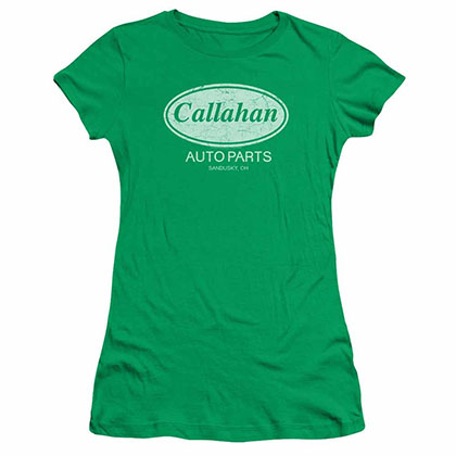 Tommy Boy Callahan Auto Green Juniors T-Shirt