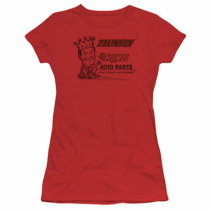 Tommy Boy Zalinsky Auto Red Juniors T-Shirt