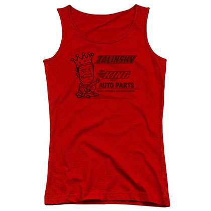 Tommy Boy Zalinsky Auto Red Juniors Tank Top