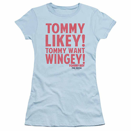 Tommy Boy Want Wingey Blue Juniors T-Shirt