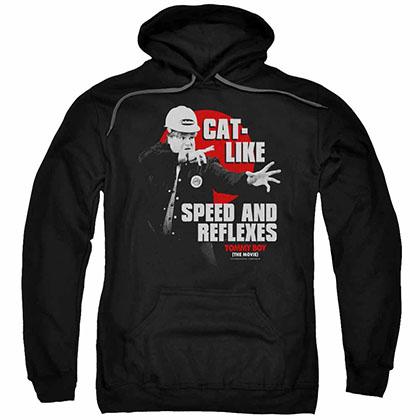 Tommy Boy Cat Like Black Pullover Hoodie
