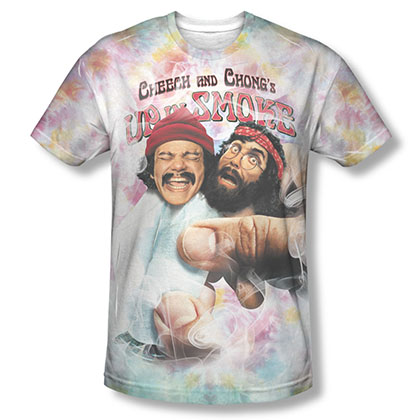 Cheech & Chong Up In Smoke Fried Tie Dyed Sublimation T-Shirt