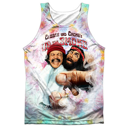 Cheech & Chong Up In Smoke White Sublimation Tank Top