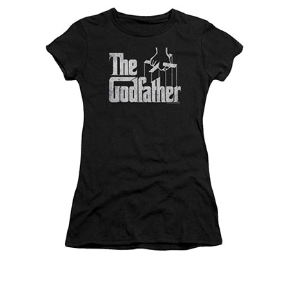 The Godfather Logo Black Juniors T-Shirt