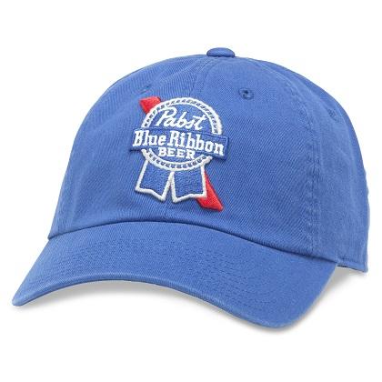 9b52d54c3e7c90 Pabst Blue Ribbon Beer Adjustable Sky Blue Strapback Hat