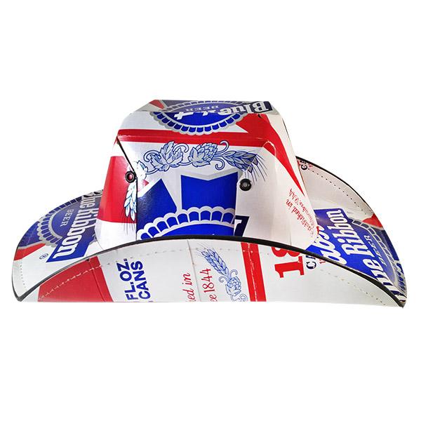 Pabst Blue Ribbon Brewing Company Beer Box Traditional Cowboy Hat 8979d6c3da4
