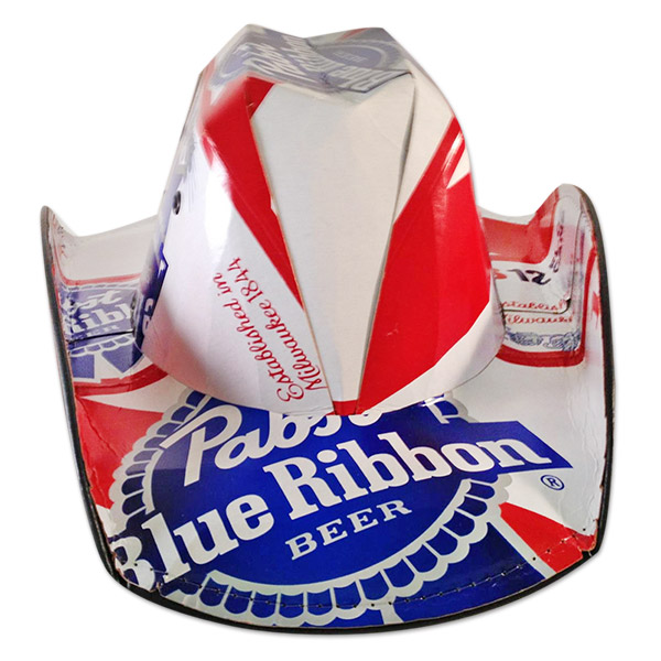 09922a0c6d1 Pabst Blue Ribbon Brewing Company Beer Box Traditional Cowboy Hat
