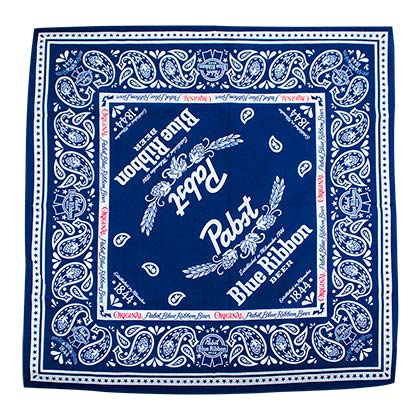 Pabst Blue Ribbon Blue Bandana