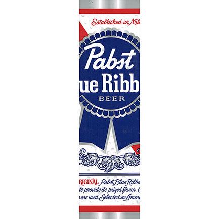 Pabst Blue Ribbon Can Bumper Sticker
