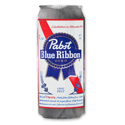 PBR Silver Beer Can Sticker