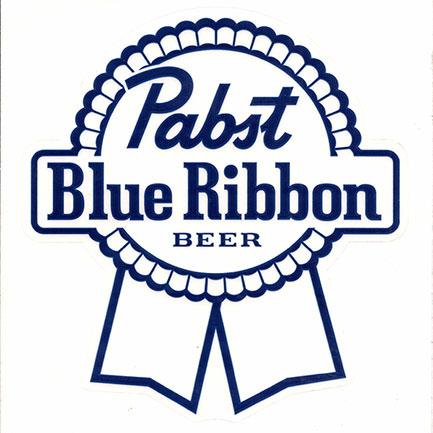 PBR Beer Logo Clear Sticker