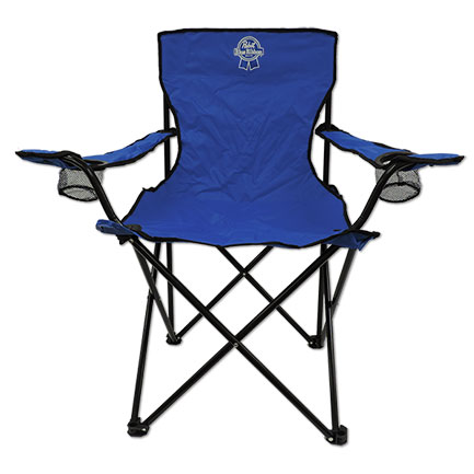 Pabst Blue Ribbon PBR Official Promotional Folding Camp Lawn Beach Chair