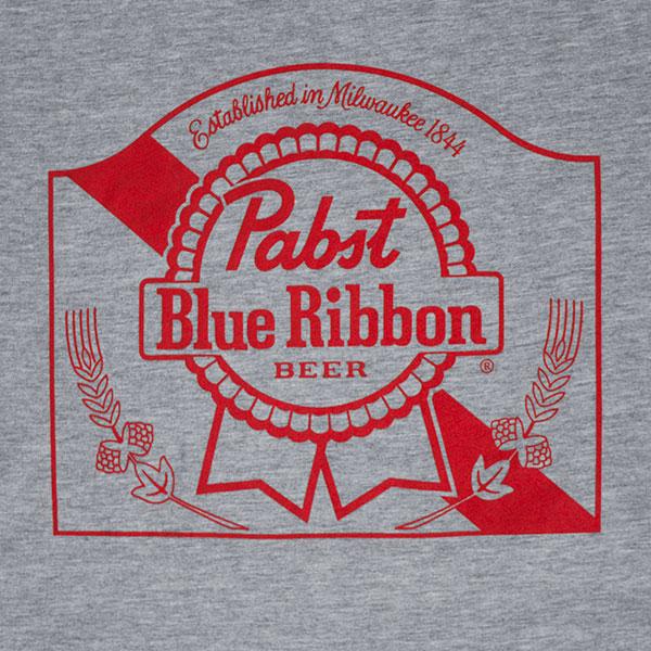 Pabst Blue Ribbon Grey Logo T-Shirt