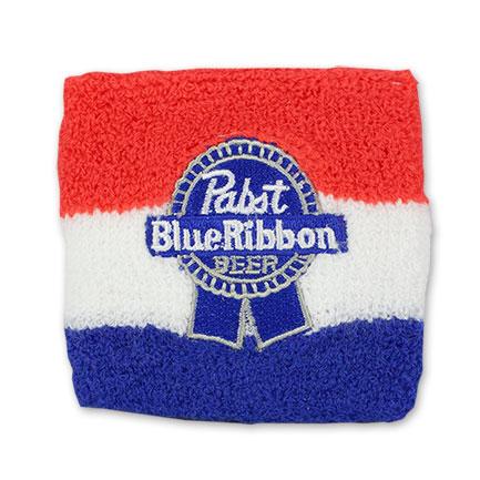 Pabst Blue Ribbon PBR Striped Wrist Band