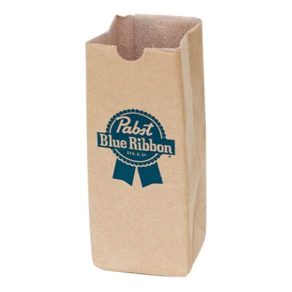 Pabst Blue Ribbon Paper Bag Can Cooler