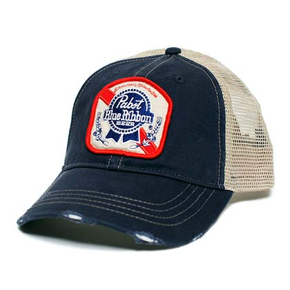 90493c3156e Pabst Blue Ribbon Patch Logo Trucker Hat